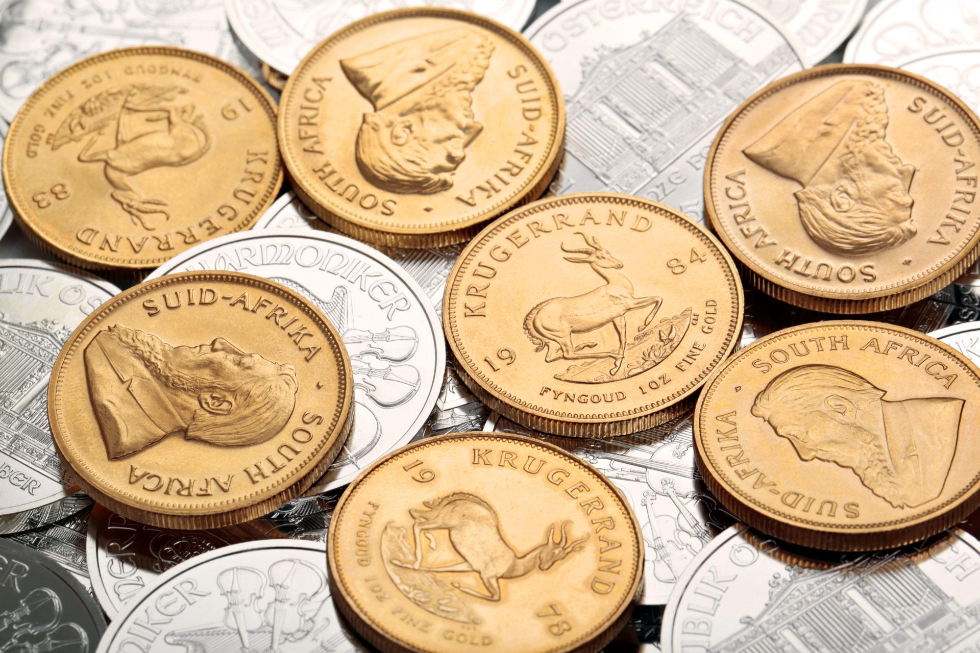 Goldmünzen Silbermünzen Krügerrand Goldmünze Aurax Edelmetallhandel GmbH Gold als Kapitalanlage Umlauf Goldmünzen